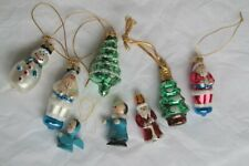 Set 8 Small Christmas Decorations Glass / Wooden