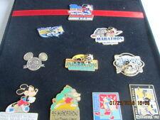 WDW Marathon 10th Anniv. LE 1000 Pin Set 11 Pins 1994-2003 Mickey New velvet box