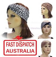 Stretch Turban Ear Warmer Head Forehead Band Headband Leopard Animal Print