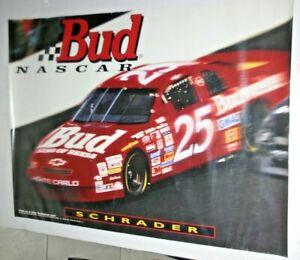 NASCAR 1996 KEN SCHRADER BUD CHEVY MONTE CARLO FULL COLOR POSTER 22 X 28