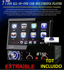 RADIO DVD UNIVERSAL 1 DIN, CARATULA EXTRAIBLE , GPS, TDT HD EXTERNO,3G BLUETOOTH