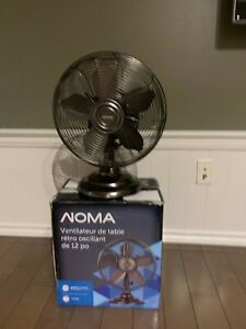 "Noma 12"" oscillating retro table fan"