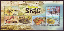AUSTRALIA 2014 THINGS THAT STING MINIATURE SHEET FINE USED