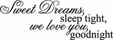 Sweet Dreams, sleep  Wall Art Deco Vinyl Decal Sticker