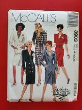 McCall's Fashion Basics pattern 3903 Misses' front button Dress  sz 6 - 10 uncut