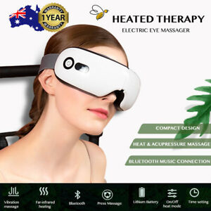 Eye Massager Heated Therapy Pressure Smart USB Charge Air Compression Wireless