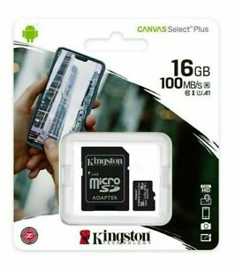 Kingston Micro SD SDHC memory Card Class 10 16GB Memory with SD card FREE POST
