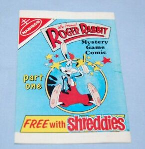 Vintage Nabisco Shreddies Cereal Comic Roger Rabbit Part One Unopened 1980's