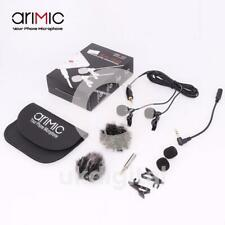 Arimic Dual Head Lavalier Lapel Microphone