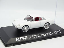 UH Presse 1/43 - Alpine Renault A108 Coupe 2+2 1961 Blanche