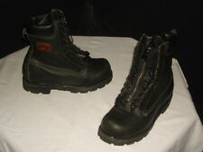 USA MADE GORE-TEX  RANGER FIREWALKER BLK LEATHER ZIPPERED/LACED ANKLE BOOTS 8.5W