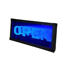 Led Open Sign Animated Neon Light Tunnel Lamp Infinity Light Mirror Light Frame