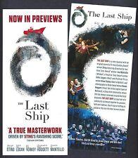 "Sting ""THE LAST SHIP"" Michael Esper / Rachel Tucker 2014 Broadway Preview Flyer"