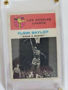 1961 Fleer Elgin Baylor #46 Rookie Card RC, NBA HOF, Los Angeles Lakers