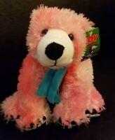 "Toy Factory Pink Polar Bear Holiday Winter Plush Stuffed Animal TAG NEW 12"" 2006"