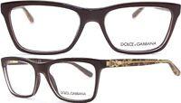 Dolce&Gabbana Damen Herren Brillenfassung DG3220 2918 54mm schwarz gold 170 43
