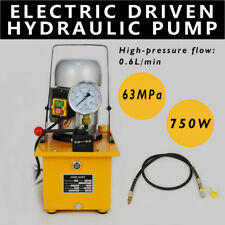 110V Electric Driven Hydraulic Pump 63 MPa Single Acting Manual Valve HHB-630C