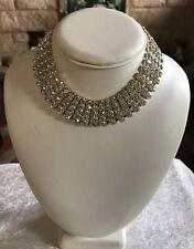 Silver Tone Sparkling Diamanté Choker BNWOT (A685)