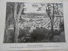 Panorama de Fort de France palmistes de la Savane Image Print 1925