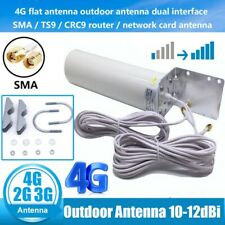 3G/4G LTE Dual SMA Male Signal Antenna Booster Outdoor Wall Mount Fixed Bracket