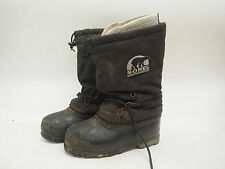SOREL WINTER SNOW BOOTS w/ FELT LINERS - MENS SIZE 10 - BLACK