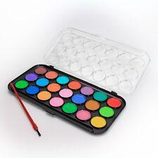 Tuschkasten Malkasten Farbkasten Malset Tusch-Set mit 21 Wasserfarben und Pinsel