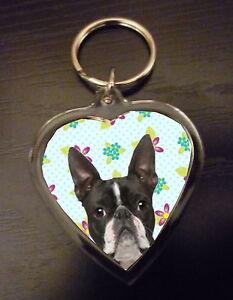 Boston Terrier Gift Keyring Key Ring heart gift Birthday Gift Mothers Day Gift