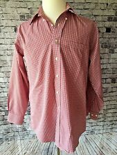 Brooks Brothers Mens Dress Shirt 15 1/2 32/33 Red Check Long Slv Button Front