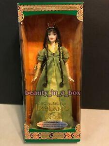 Platinum Faerie Queen Barbie Doll Legends of Ireland Brunette NRFB 500 Issued VG
