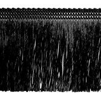 5,0 oder 25 m  Fransen 60 mm schwarz  (ab 0,59 €/m) Schnittfransen Fransenborte