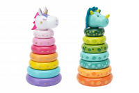 Wooden Toys Unicorn Dinosaur Early Learning Pre School Educational Stacking Ring