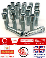 20 x Tuner bolts M14 x 1.5, extended 40mm for Aftermarket alloy wheels. VW