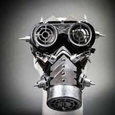 Men & Women Steampunk Mask Costume Halloween Masquerade Gas Mask Goggles Glasses