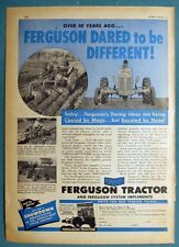 Small 1950 Tractor  Ad OVER 10 YEARS AGO FERGUSON DARED TO BE DIFFERENT 8 by 11