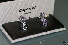 * New * Boxed Gift Novelty Cufflinks - Seahorse Design