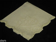 Antique French Cutwork Lace Embroidered Linen Napkins Early 1900's Set of (7)