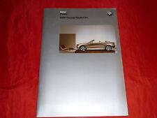 BMW CONCEPT étude cs1 1er Cabriolet presse anglaise classeur de 2002