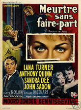 Portrait in black Lana Turner vintage movie poster