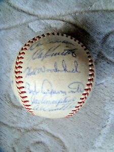 1962 Houston Colt 45's signed autograph baseball official Warren Giles ball