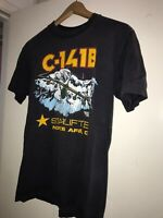Vintage USAF 80s Norton AFB California C-141 Starlifter Graphic T Shirt 2 Sided