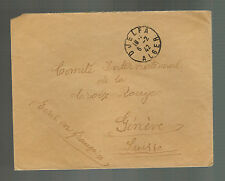 1942 Djelfa French Algeria Internment Camp cover to Red Cross Geneva Switzerland