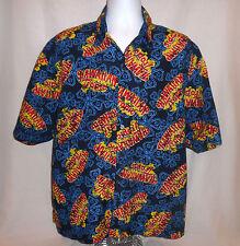 Hawaiian Shirt XL Tropic Suntan Lotion Tanning Research Aloha Camp