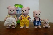 Lot 4 Epoch Calico Critters Sylvanian Families PIGS Family Figures 1985