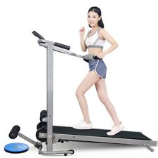 4 in 1 Folding Manual Walking Incline Treadmill Sit-up Bench Fitness Gym Machine