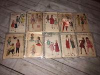 Butterick Simplicity McCalls Vintage Patterns Clothes Dresses Shirts pants Sz 10