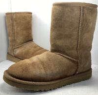 UGG Size Women's 7 Australia 5825 Classic Short Chestnut Sheepskin Boots GUC