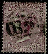 MAURITIUS SG51, 9d dull purple, FINE used. Cat £42.