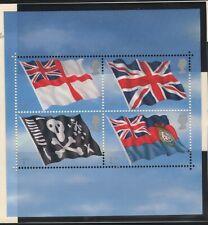 "Great Britain Sg2202/05 &Ms2206 Mint ""Royal Navy Sub Svc"" set of 4 +flag sheet"