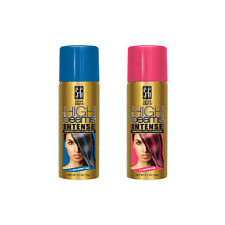 High Beams Temporary Hair Color Spray Pink Blue Harley Squad Costume Halloween
