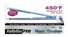 NEW!!! BABYLISS PRO NANO TITANIUM 1' ULTRA THIN FLAT IRON 450° HAIR STRAIGHTENER